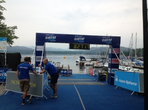 The start line at my very first open water event.